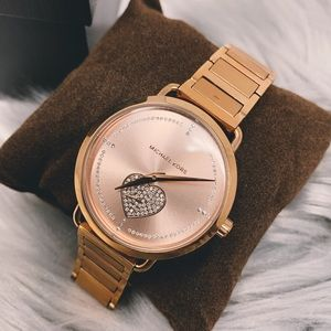 Michael Kors Portia Pavé Rose Gold Stainless Watch